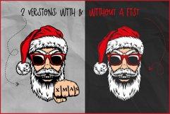 Christmas SVG, Cool Santa SVG,Biker Christmas T-shirt Design Product Image 3