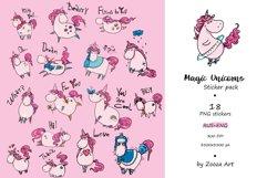 Magic Unicorns 18 stickers Rus-Eng Product Image 2