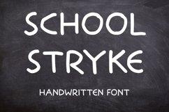 School Stryke - Handwritten font Product Image 1