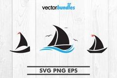 Sailboat clip art svg Product Image 1