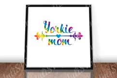 Yorkie mom svg Morkie Wall art print Rainbow cut file Product Image 2