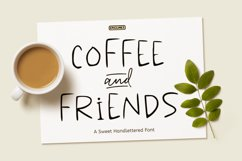 Coffee & Friends - A Sweet Hand-lettered Font Product Image 1