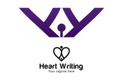 Heart Writing - Iconic Stock Logo Template Product Image 3