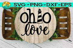 Ohio Love - Lighthouse - SVG - PNG - EPS - DXF Product Image 1