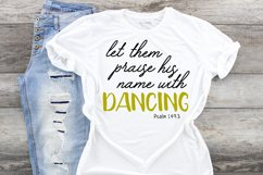 Praise his name with Dancing svg cut file Dancer Ballet tap Product Image 1