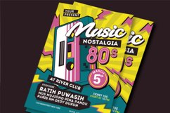 80's Music Event Flyer Product Image 1