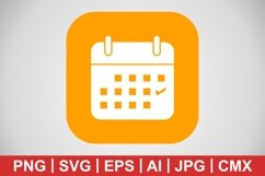 Vector Business Calendar Icon Product Image 1