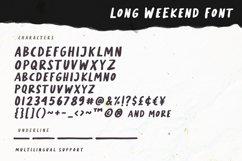 Long Weekend - Handwritten Font Product Image 5