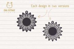 Sunflower Earrings mini SVG Bundle, Sunflower Clipart, Earri Product Image 3