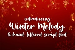 Winter Melody - A Hand-Written Script Font Product Image 1