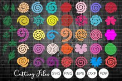 Rolled Paper Flowers Bundle | Svg Cut Files | Origami | Product Image 1