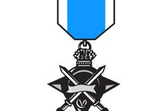 military medal of bravery crossed swords Product Image 1