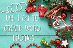 YULE - Christmas Lights Font  Product Image 3