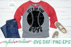Let's Do This Boys Baseball SVG, DXF, PNG, EPS Product Image 3