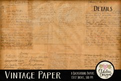 Vintage Paper Backgrounds - Vintage Texture Digital Papers Product Image 5