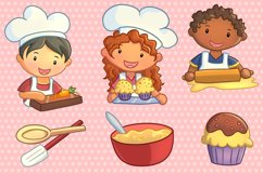 Cute Kids Cooking Illustrations Product Image 2