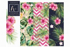 Tropical summer Seamless Travel pattern tiles. Product Image 4