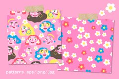 Girls PORTRAITS & patterns set Product Image 4