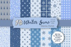 Winter Snow Digital Paper Product Image 1