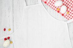 Easter white apron mockup, kitchen mock up, flat lay Product Image 2