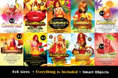 10 Summer Cocktail Party Flyers Bundle Product Image 1