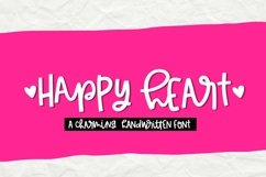 Happy Heart- Smooth Handwritten Font for Crafters Product Image 1