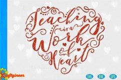 Teacher's Heart SVG   Education SVG Product Image 1
