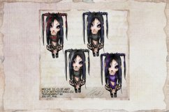 Michi 31 Gothic Clip Art, Journal, sublimation Product Image 1