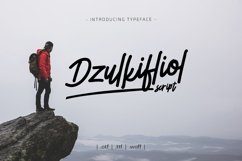 Dzulkifliol Script Font Product Image 1