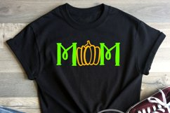 Mom Pumpkin Fall Halloween Shirt Tote Design SVG DXF PNG Product Image 2