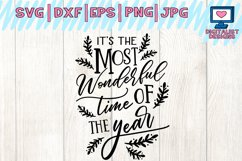 It's the Most Wonderful Time of the Year SVG, Christmas Product Image 2