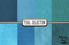 Teal Selection - 16 Digital Papers/Backgrounds Product Image 3