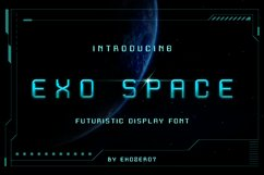Exo Space Futuristic Display Font Product Image 3