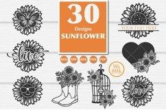 Best seller Sunflower SVG Bundle of 30 Designs Product Image 3