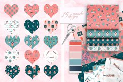 Romantic Valentine's Day. Love patterns, stickers and cards. Product Image 4