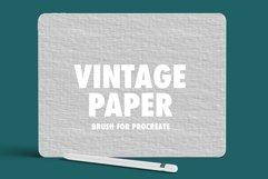 Vintage Paper Procreate Brush Product Image 1