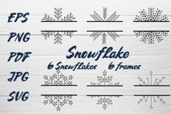 Snowflake SVG and Christmas frames SVG collection Product Image 1