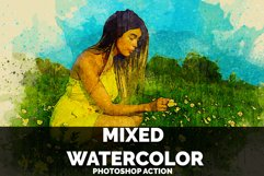 Mixed Watercolor Photoshop Action Product Image 1