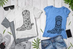 Cowboy Boot Mandala SVG, Country Western, Mandala Clipart. Product Image 3
