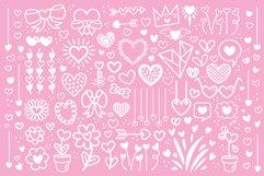 Cartoon Doodle Heart Clip Art Set Product Image 3