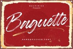 Baguette Natural Handbrushed Font Product Image 1