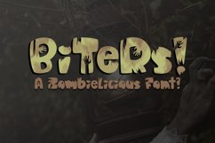 Biters | A Fun Zombielicious Font| Zombie Font| Halloween Product Image 1