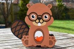 Beaver Easter egg holder design SVG / DXF / EPS Product Image 3
