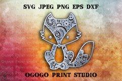 Fox Svg - 3D Layered Mandala SVG cut file 3 layers Product Image 1