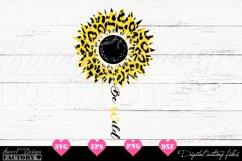 Sunflower leopard print Svg Product Image 1