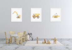 Construction machines watercolor Product Image 8