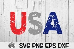 USA - Grunge - SVG PNG EPS DXF Product Image 1