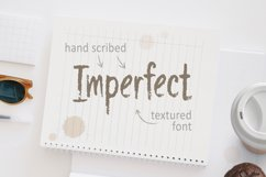 Imperfect - Hand Scribed Textured Latin Font Product Image 1
