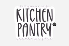 KITCHEN PANTRY Farmhouse Font Product Image 1
