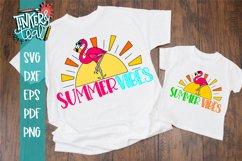 Summer Vibes Flamingo SVG Product Image 1